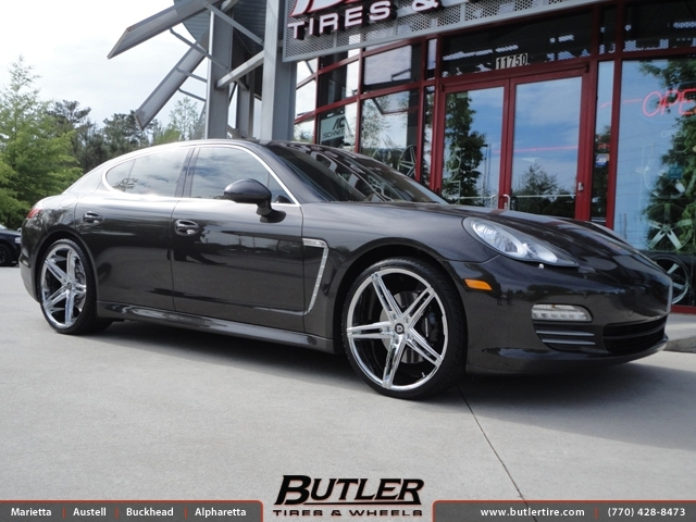 Nitrogen In Tires >> Porsche Panamera with 22in Lexani R-Three Wheels exclusively from Butler Tires and Wheels in ...