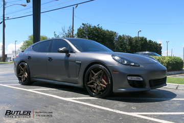 Porsche Panamera with 22in Lexani Spyder Wheels
