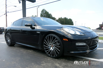 Porsche Panamera with 22in Lexani Wraith Wheels