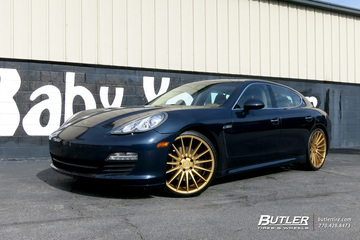 Porsche Panamera with 22in Niche Form Wheels