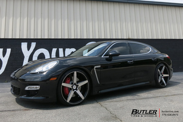 Porsche Panamera with 22in Savini BM11 Wheels