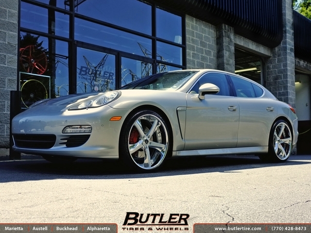 Porsche Panamera with 22in Savini SV29 Wheels