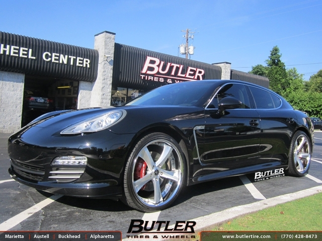 Porsche Panamera with 22in Savini SV29c Wheels