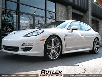 Porsche Panamera with 22in Savini SV32c Wheels