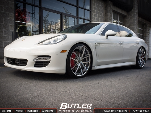 Porsche Panamera with 22in Vellano VCU Wheels