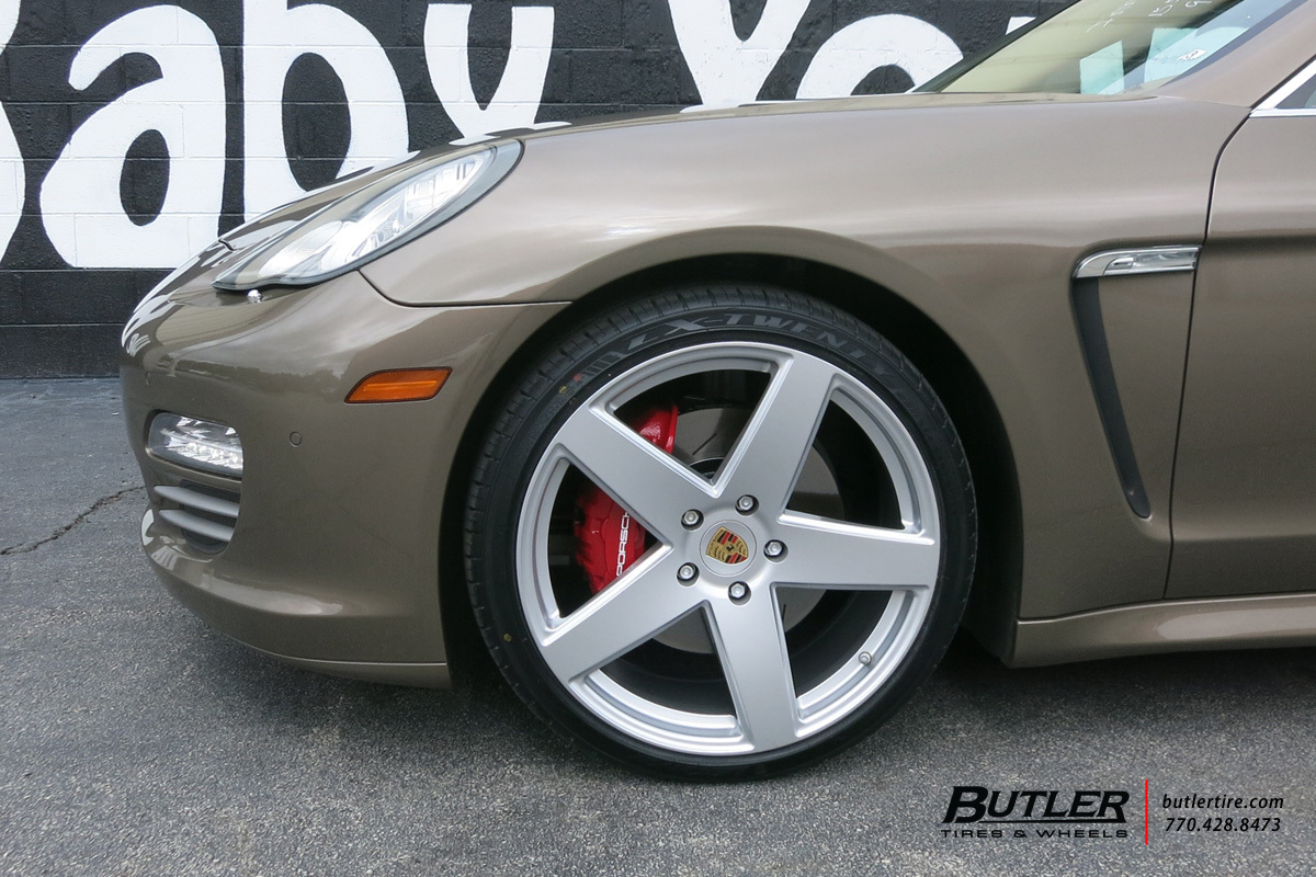 Porsche Panamera with 22in Victor Baden Wheels