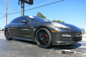 Porsche Panamera with 22in Victor Lemans Wheels