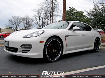 Porsche Panamera with 22in Victor Mulsanne Wheels