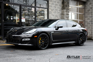 Porsche Panamera with 22in Victor Stabil Wheels