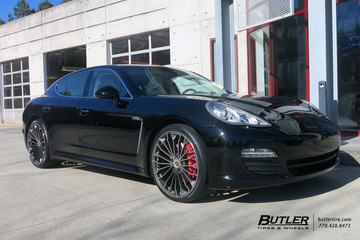 Porsche Panamera with 22in Victor Wurttemburg Wheels