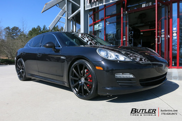 Porsche Panamera with 22in Victor Zehn Wheels