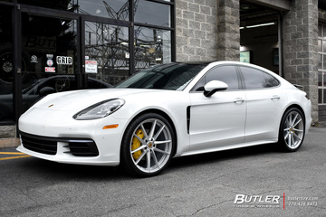 Porsche Panamera with 22in Victor Zuffen Wheels
