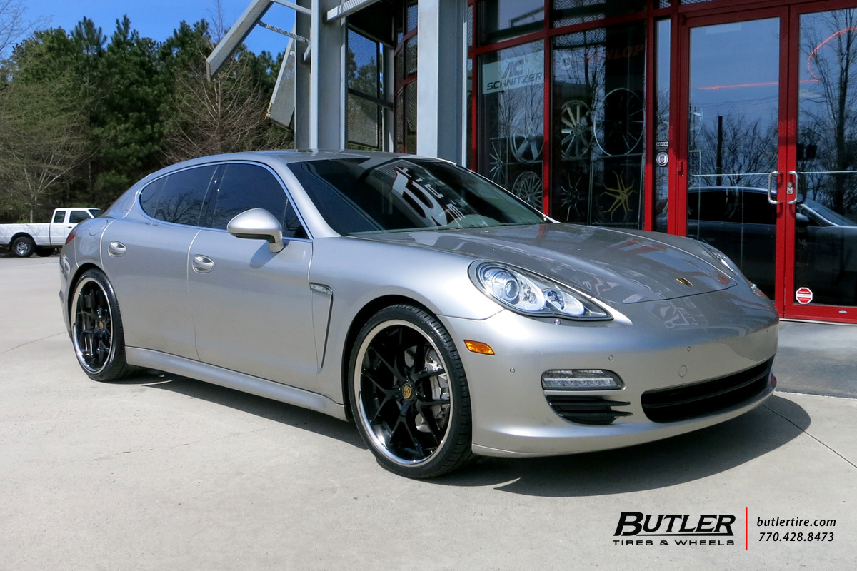 Porsche Panamera with 22in XO Athens Wheels