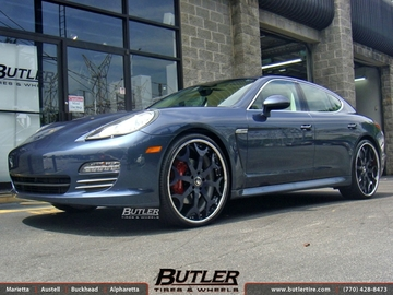 Porsche Panamera with 24in Forgiato Capolavaro Wheels
