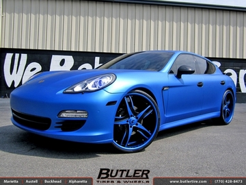 Porsche Panamera with 24in Forgiato F2 05 Wheels