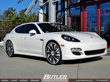 Porsche Panamera with 24in Forgiato Inferno Wheels