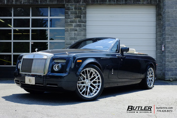 Rolls Royce Drophead with 24in Savini SV65d Wheels