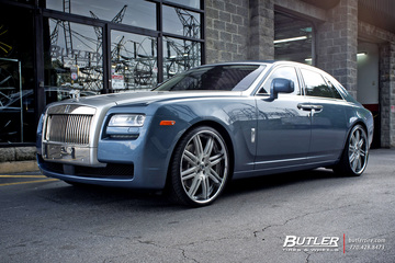 Rolls Royce Ghost with 24in Asanti AF163 Wheels