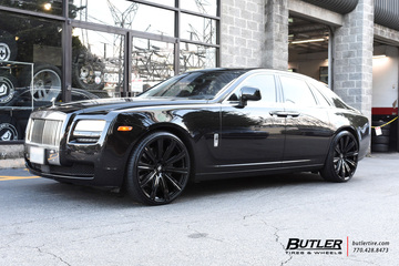 Rolls Royce Ghost with 24in Avant Garde AGL-Vanguard Wheels