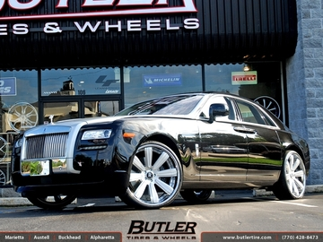 Rolls Royce Ghost with 24in Vellano VK Concave Wheels