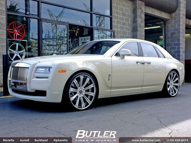 Struts And Shocks >> Rolls Royce Ghost with 24in Vellano VTI Wheels exclusively from Butler Tires and Wheels in ...