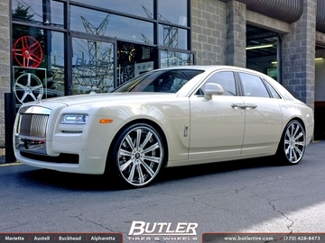 Rolls Royce Ghost with 24in Vellano VTI Wheels