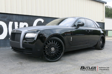 Rolls Royce Ghost with 24in Vellano VTP Wheels