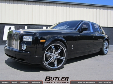 Rolls Royce Phantom with 24in Lexani LX 6 Wheels