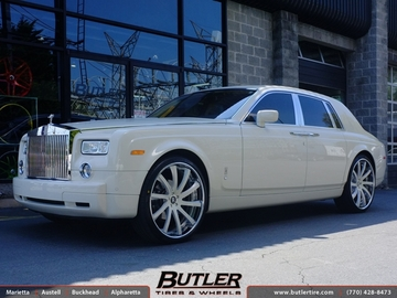 Rolls Royce Phantom with 24in Savini SV37c Wheels
