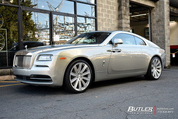 Rolls Royce Wraith with 22in Avant Garde AGL-Vanguard Wheels