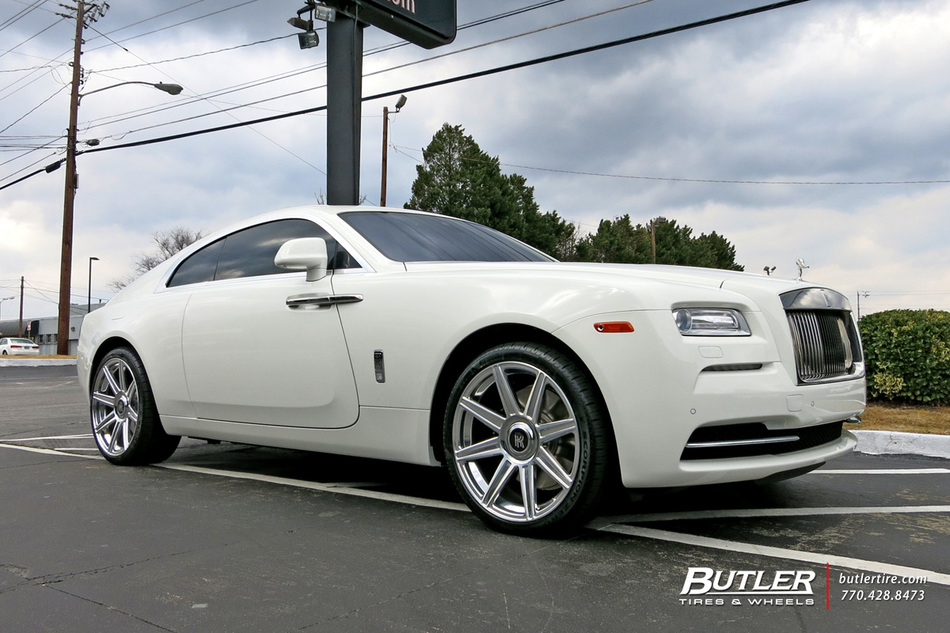 Rolls Royce Wraith with 22in Avant Garde AGL22 Wheels exclusively from Butler Tires and Wheels ...