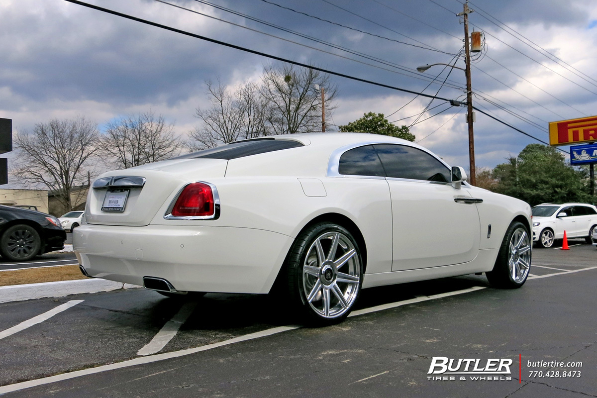 Rolls Royce Wraith Accessories >> Rolls Royce Wraith with 22in Avant Garde AGL22 Wheels exclusively from Butler Tires and Wheels ...
