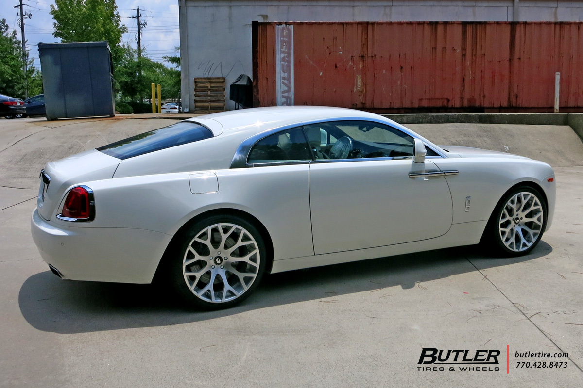 Rolls Royce Wraith with 22in Forgiato Drea ECL Wheels