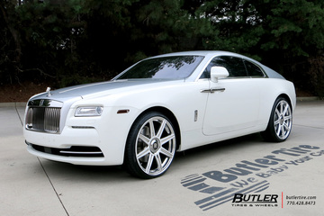 Rolls Royce Wraith with 24in Avant Garde AGL22 Wheels