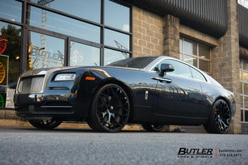 Rolls Royce Wraith with 24in Forgiato Drea ECL Wheels