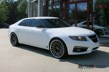 Saab 9-5 with 22in Lexani LF712 Wheels