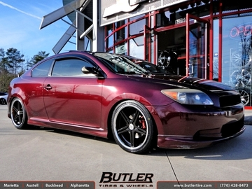 Scion Tc with 18in TSW Mirabeau Wheels