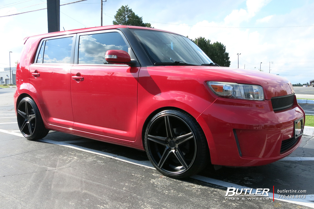 Scion XB with 20in Niche Apex Wheels