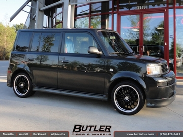 Scion Xb with 17in TSW Zolder Wheels