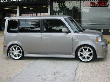 Scion Xb with 18in Axis Se7en Mod Wheels