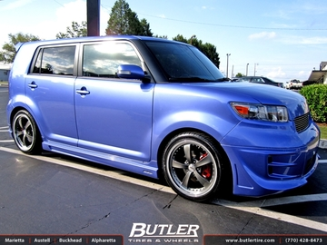 Scion Xb with 18in TSW Strip Wheels
