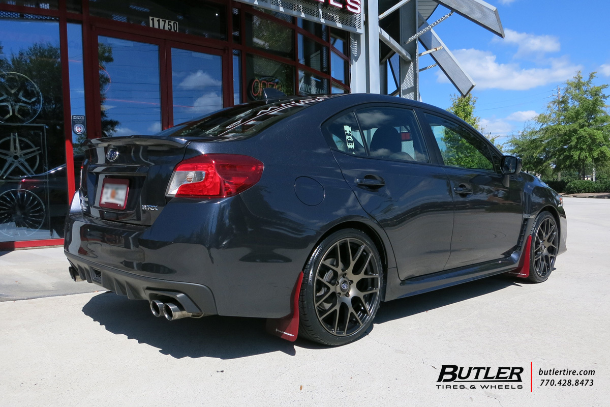 Subaru WRX with 19in TSW Nurburgring Wheels