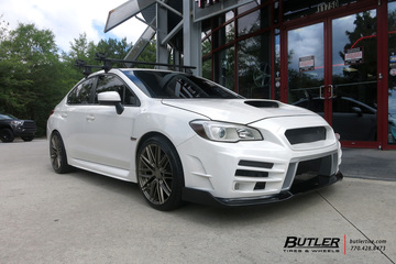 Subaru WRX with 19in TSW Pescara Wheels