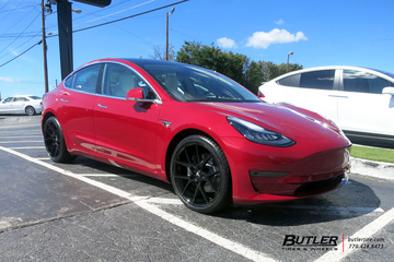 Tesla Model 3 with 20in Savini BM14 Wheels