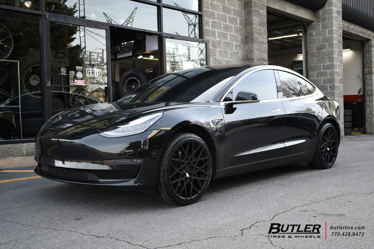 Tesla Model 3 with 20in TSW Vale Wheels