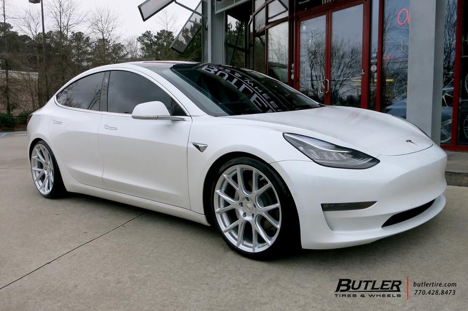Tesla Model 3 With 20in Vossen Vfs6 Wheels Exclusively