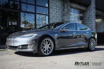 Tesla Model S with 20in HRE FF01 Wheels