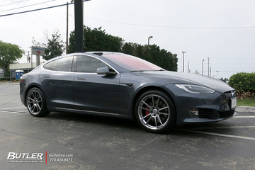 Tesla Model S with 20in HRE FF04 Wheels