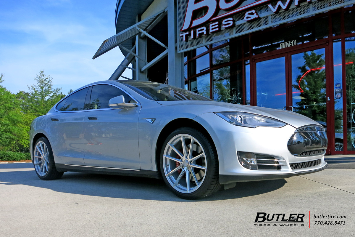 Tesla Model S with 20in TSW Bathurst Wheels