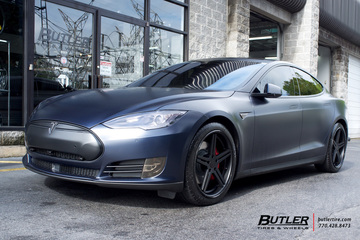 Tesla Model S with 20in TSW Mirabeau Wheels
